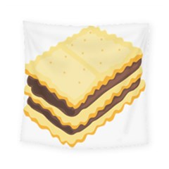 Sandwich Biscuit Chocolate Bread Square Tapestry (small)