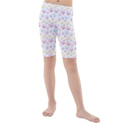 Pretty Colorful Butterflies Kids  Mid Length Swim Shorts