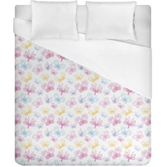 Pretty Colorful Butterflies Duvet Cover (california King Size) by tarastyle