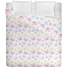 Pretty Colorful Butterflies Duvet Cover Double Side (california King Size)