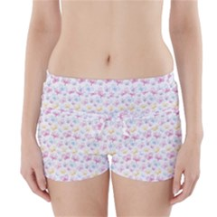 Pretty Colorful Butterflies Boyleg Bikini Wrap Bottoms