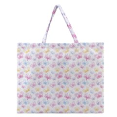 Pretty Colorful Butterflies Zipper Large Tote Bag