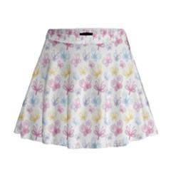 Pretty Colorful Butterflies Mini Flare Skirt