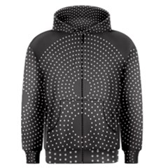 Round Stitch Scrapbook Circle Stitching Template Polka Dot Men s Zipper Hoodie by Mariart