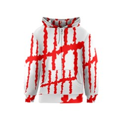 Scratches Claw Red White H Kids  Zipper Hoodie by Mariart