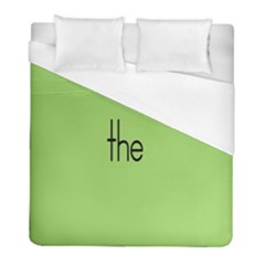 Sign Green The Duvet Cover (full/ Double Size) by Mariart