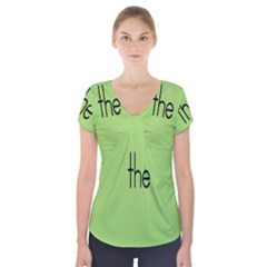Sign Green The Short Sleeve Front Detail Top by Mariart