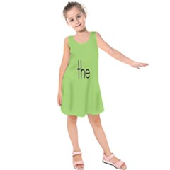 Sign Green The Kids  Sleeveless Dress by Mariart