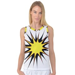 Spot Star Yellow Black White Women s Basketball Tank Top by Mariart