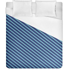 Striped  Line Blue Duvet Cover (california King Size) by Mariart