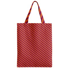Striped Purple Orange Zipper Classic Tote Bag by Mariart