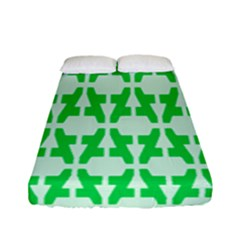 Sign Green A Fitted Sheet (full/ Double Size) by Mariart