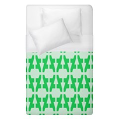 Sign Green A Duvet Cover (single Size) by Mariart