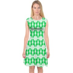 Sign Green A Capsleeve Midi Dress by Mariart