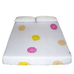 Stone Diamond Yellow Pink Brown Fitted Sheet (king Size) by Mariart