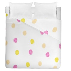 Stone Diamond Yellow Pink Brown Duvet Cover Double Side (queen Size) by Mariart