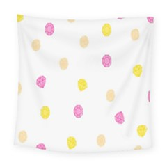 Stone Diamond Yellow Pink Brown Square Tapestry (large) by Mariart