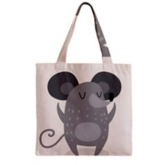 Tooth Bigstock Cute Cartoon Mouse Grey Animals Pest Zipper Grocery Tote Bag by Mariart