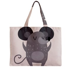 Tooth Bigstock Cute Cartoon Mouse Grey Animals Pest Zipper Mini Tote Bag by Mariart