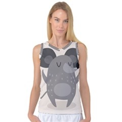 Tooth Bigstock Cute Cartoon Mouse Grey Animals Pest Women s Basketball Tank Top by Mariart