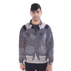 Tooth Bigstock Cute Cartoon Mouse Grey Animals Pest Wind Breaker (men) by Mariart