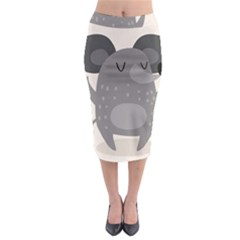 Tooth Bigstock Cute Cartoon Mouse Grey Animals Pest Midi Pencil Skirt