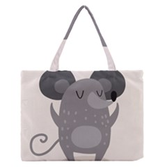Tooth Bigstock Cute Cartoon Mouse Grey Animals Pest Medium Zipper Tote Bag by Mariart