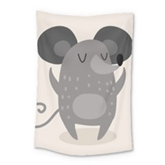 Tooth Bigstock Cute Cartoon Mouse Grey Animals Pest Small Tapestry by Mariart