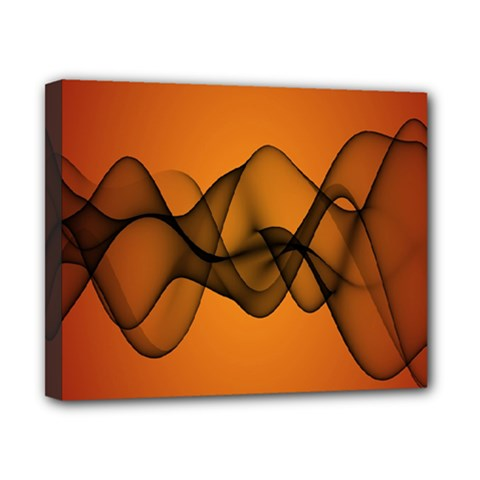 Transparent Waves Wave Orange Canvas 10  X 8  by Mariart