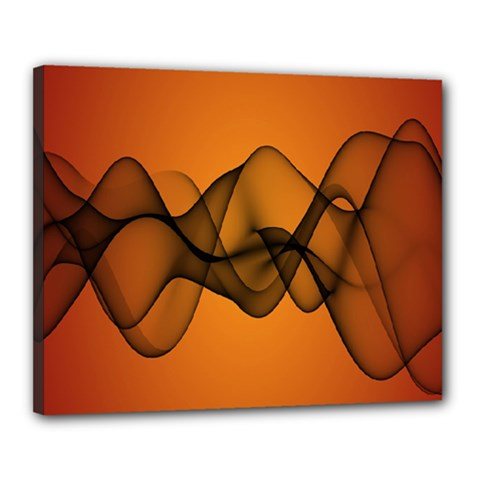 Transparent Waves Wave Orange Canvas 20  X 16  by Mariart