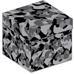 Urban Initial Camouflage Grey Black Storage Stool 12   by Mariart