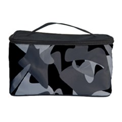 Urban Initial Camouflage Grey Black Cosmetic Storage Case by Mariart