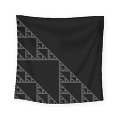 Triangle Black White Chevron Square Tapestry (small) by Mariart