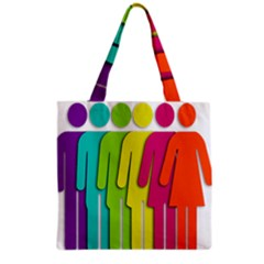 Trans Gender Purple Green Blue Yellow Red Orange Color Rainbow Sign Grocery Tote Bag by Mariart