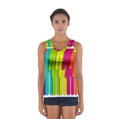 Trans Gender Purple Green Blue Yellow Red Orange Color Rainbow Sign Women s Sport Tank Top  by Mariart