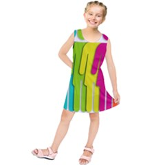 Trans Gender Purple Green Blue Yellow Red Orange Color Rainbow Sign Kids  Tunic Dress by Mariart