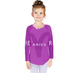 Zodiac Aries Kids  Long Sleeve Tee