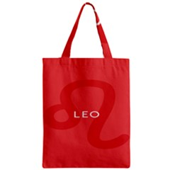 Zodiac Leo Zipper Classic Tote Bag by Mariart