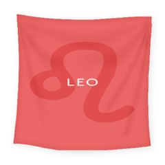 Zodiac Leo Square Tapestry (large) by Mariart