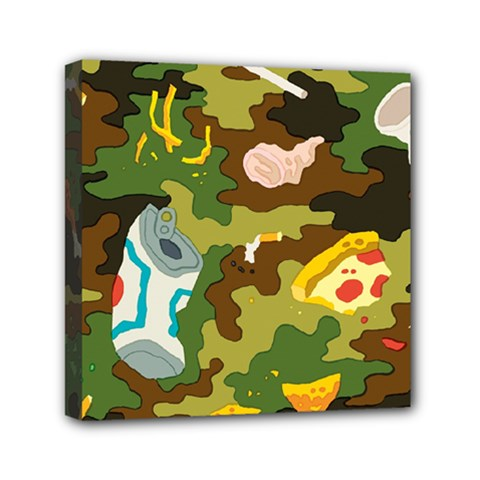 Urban Camo Green Brown Grey Pizza Strom Mini Canvas 6  X 6  by Mariart