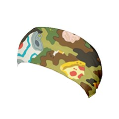 Urban Camo Green Brown Grey Pizza Strom Yoga Headband by Mariart