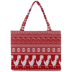 Red Dinosaur Star Wave Chevron Waves Line Fabric Animals Mini Tote Bag by Mariart