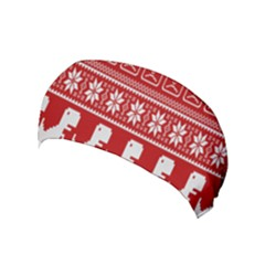 Red Dinosaur Star Wave Chevron Waves Line Fabric Animals Yoga Headband by Mariart