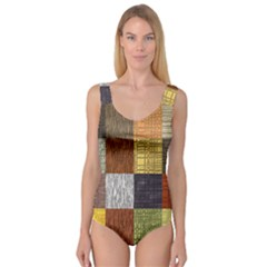 Blocky Filters Yellow Brown Purple Red Grey Color Rainbow Princess Tank Leotard