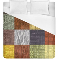 Blocky Filters Yellow Brown Purple Red Grey Color Rainbow Duvet Cover (king Size) by Mariart