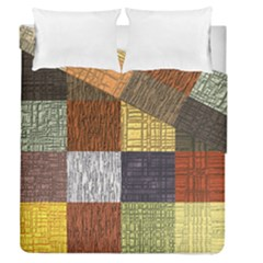 Blocky Filters Yellow Brown Purple Red Grey Color Rainbow Duvet Cover Double Side (queen Size) by Mariart