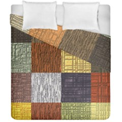Blocky Filters Yellow Brown Purple Red Grey Color Rainbow Duvet Cover Double Side (california King Size) by Mariart