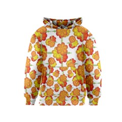 Colorful Stylized Floral Pattern Kids  Pullover Hoodie by dflcprintsclothing
