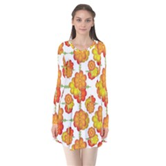 Colorful Stylized Floral Pattern Flare Dress by dflcprintsclothing