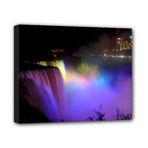 Niagara Falls Dancing Lights Colorful Lights Brighten Up The Night At Niagara Falls Canvas 10  X 8